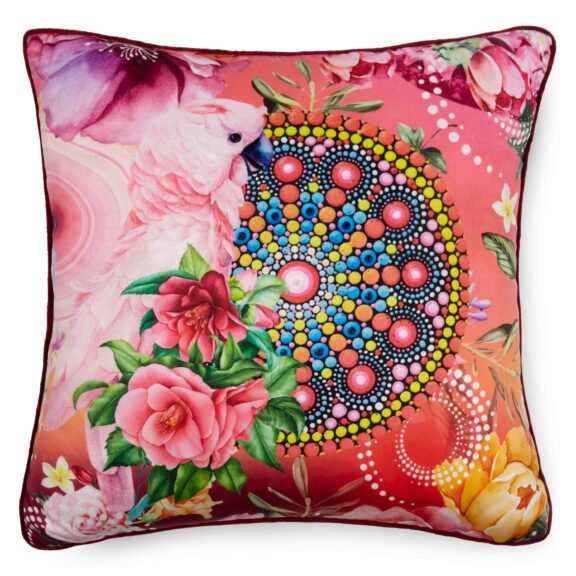 7162-H, NEVINE, multi filled pillow square front