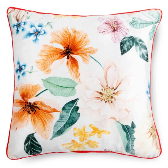 20018-D, ANNABELLE, offwhite filled pillow square front